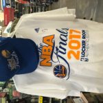 Golden State Warriors 2017 NBA Finals - Blue Hat and White Tee