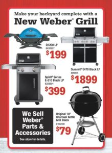 Lots new Weber Grills at Marin Ace