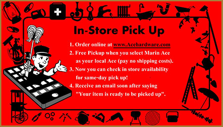 Marin Ace Hardware Free Pickup
