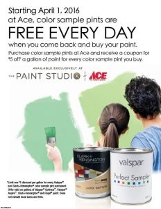 Free Sample Pints of Paint at Marin Ace