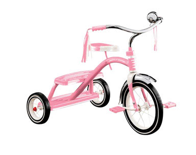 Girls Classic Pink Dual Deck Tricycle #33P
