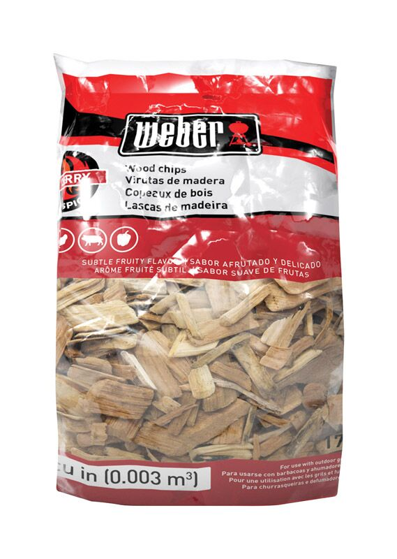 Weber Cherry Wood Chips 2lb Bag