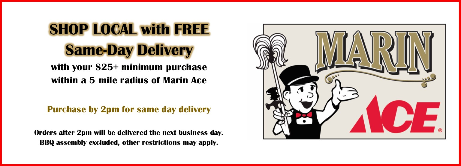 Slider Same Day Delivery at Marin Ace