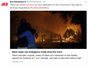 Marin Ace aids North Bay Fire victims- Marin IJ link