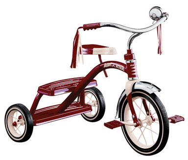 """Radio Flyer Classic Red 12"""" Dual Deck Tricycle #33"""
