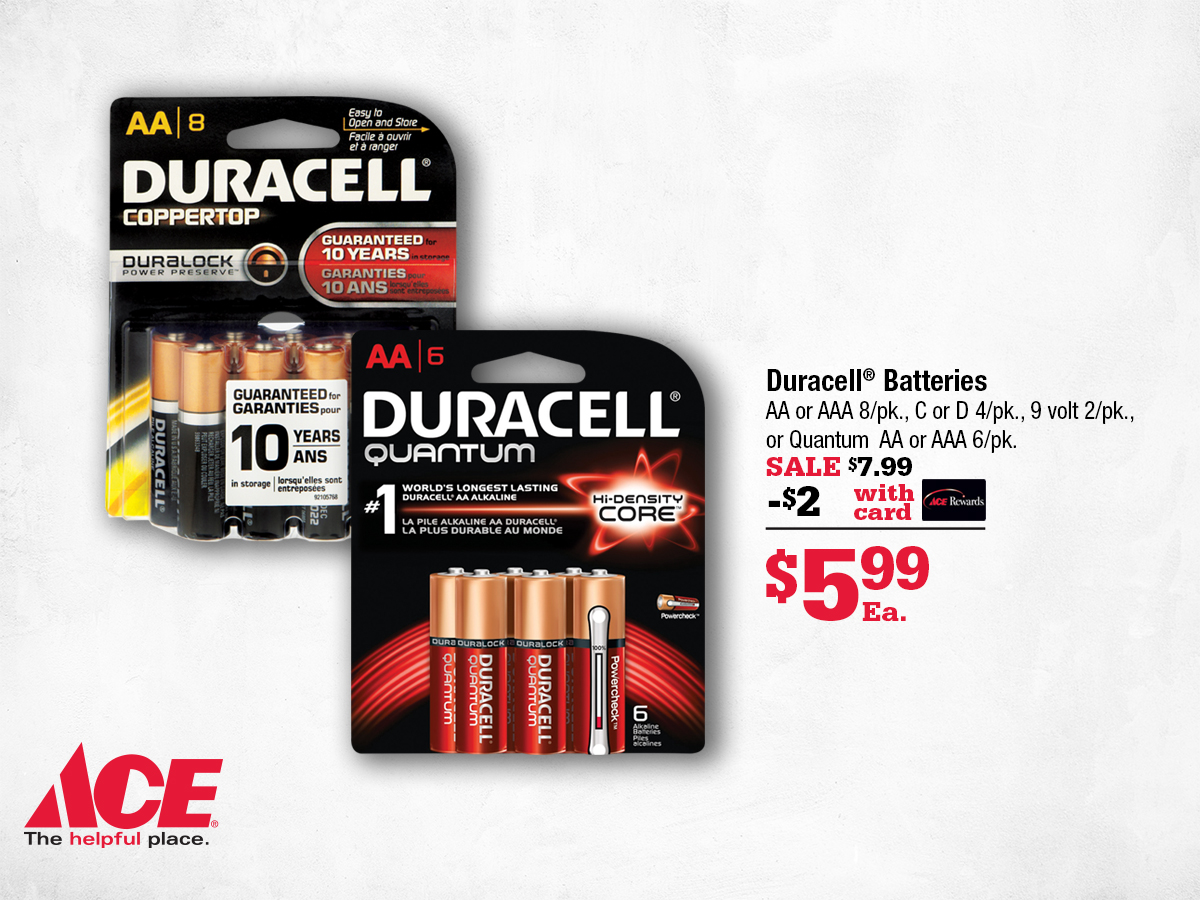 Marin Ace February Deals - Batteries