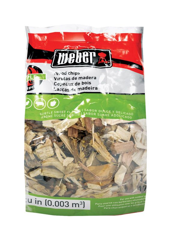Weber Apple Wood Chips 2lb Bag