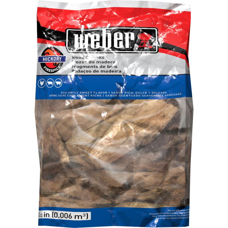 Weber Hickory Wood Chunks 4lb Bag