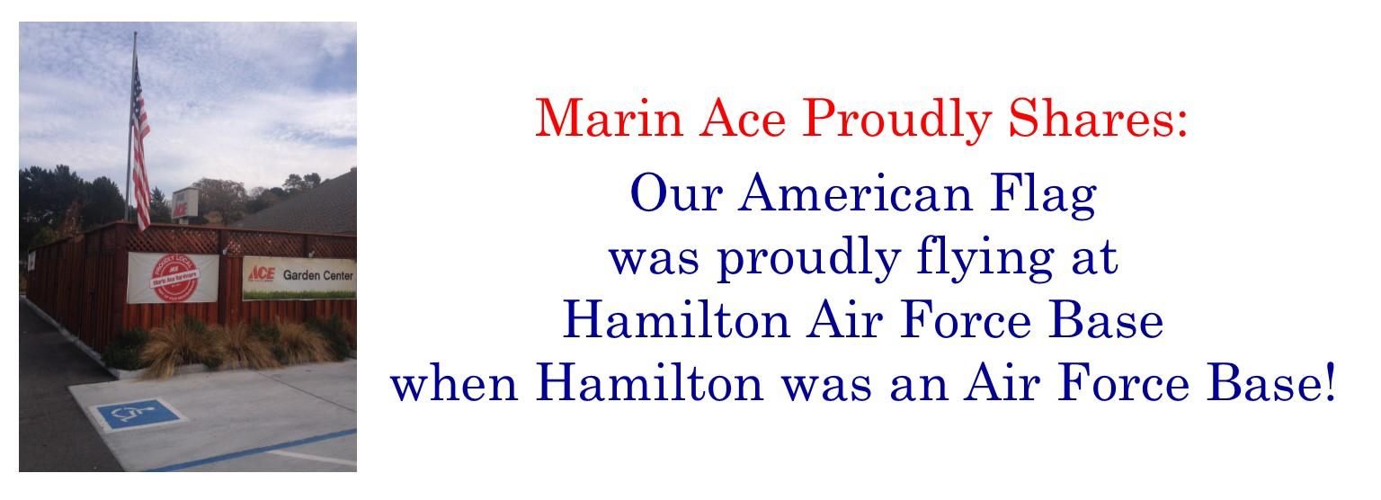 Marin Ace Flag history