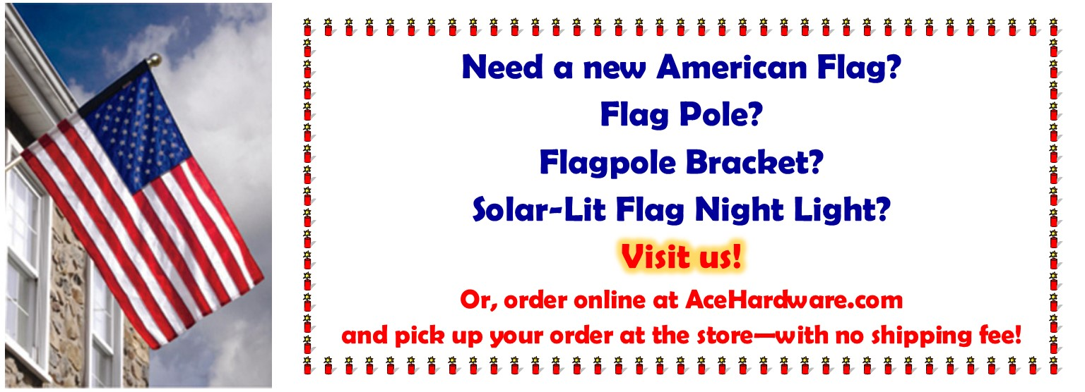 We have flags and accessories