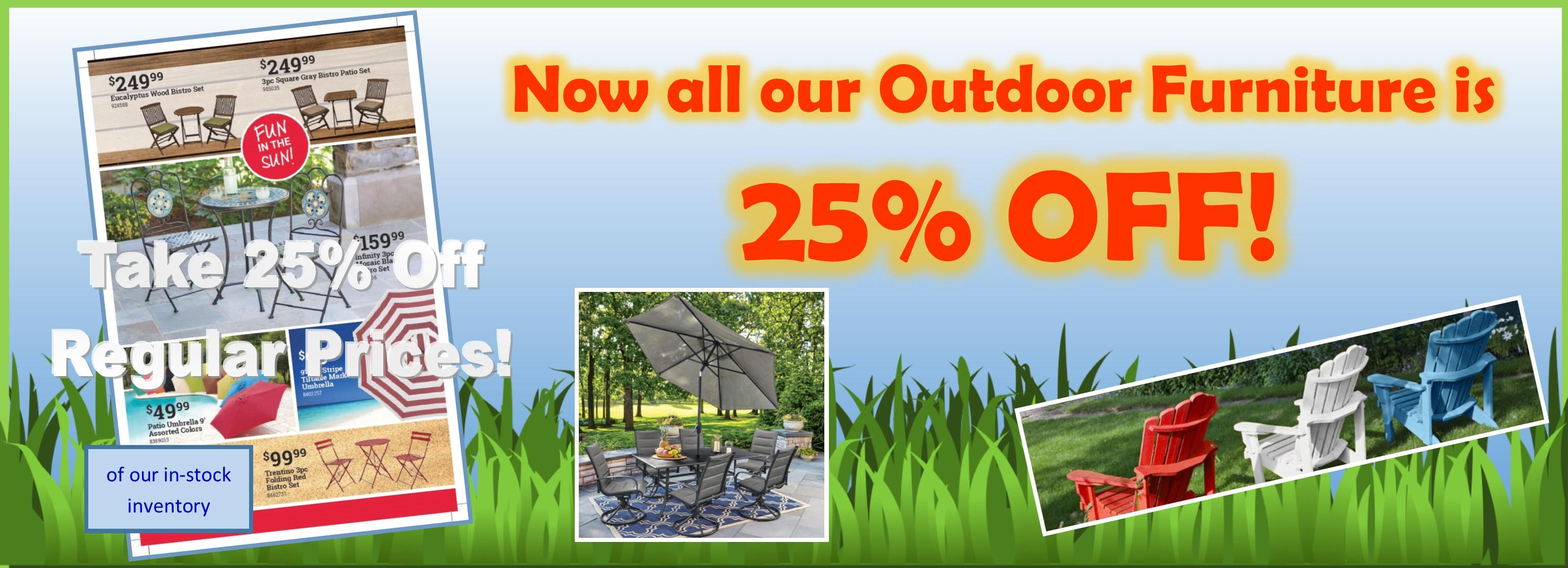 25% off Outdoor