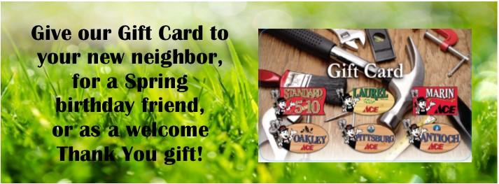 spring gift card slider