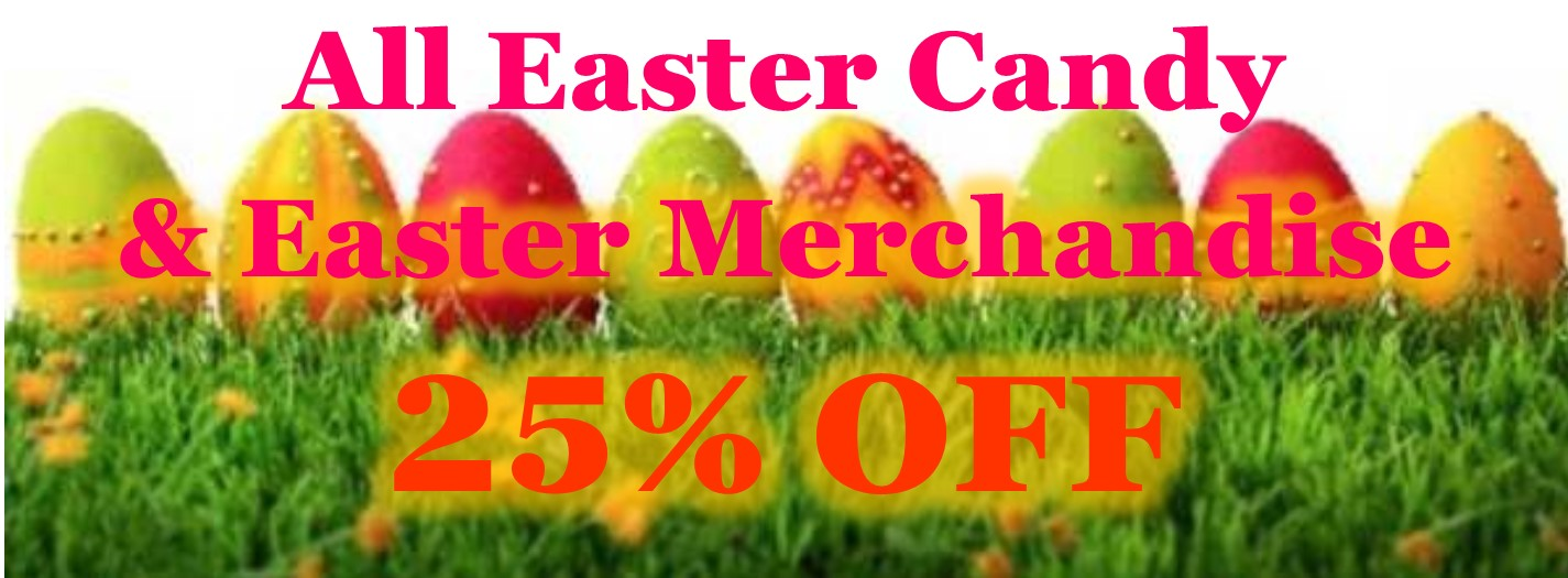 Easter 25% off