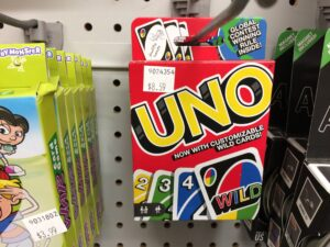 Uno is a good choice of card games for evacuations