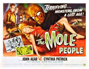 "Poster of 1956 film the ""Mole People"""