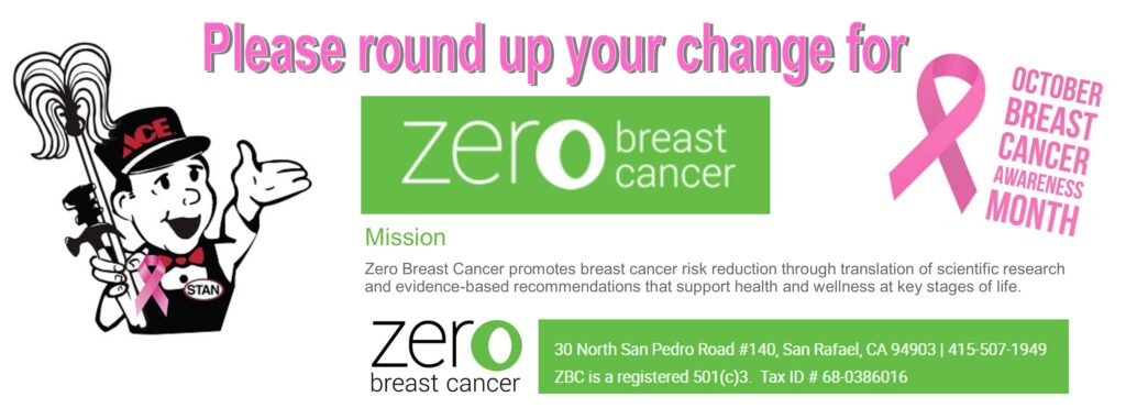 Donate your change to Zero Breast Cancer