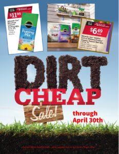 April RHB Dirt Cheap