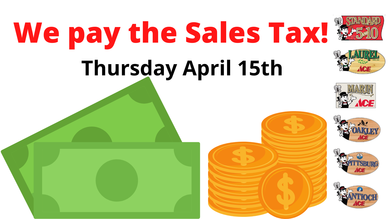 We Pay The Sales Tax 4 15